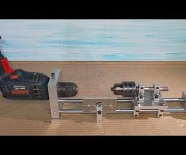 Homemade Wood Metal Mini Lathe Press Drills DIY Headstock Chuck Spindle Tailstock CNC