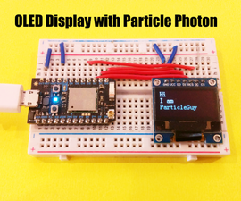 OLED Display (SPI) With Particle Photon