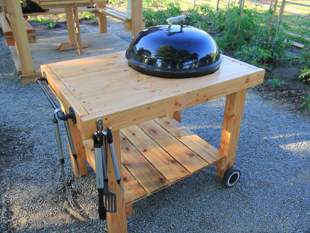 Diy Weber Grill Cart Bbq Station 11 Steps With Pictures