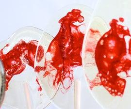 Vampire Blood Lollipops