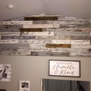 Faux Barn Boards!