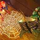 Life-Sized Spider-Man Themed Halloween Display