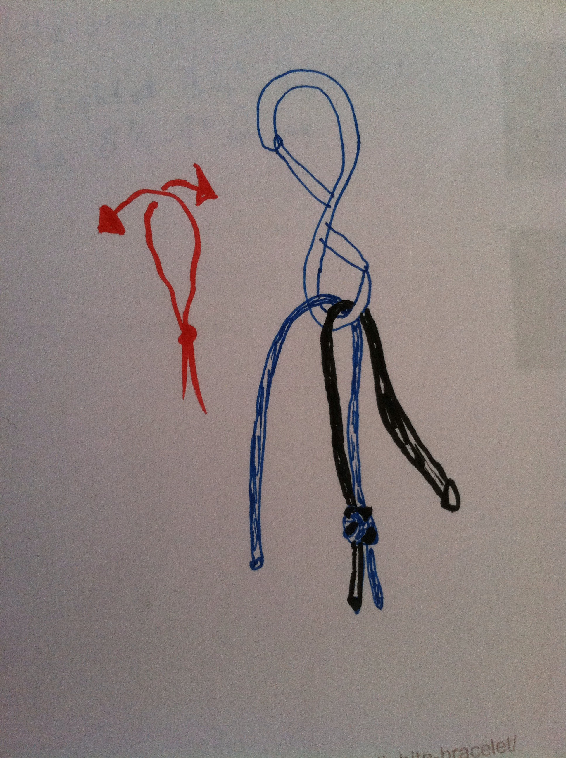 Picture of Tie Lanyard Knot and Set Length