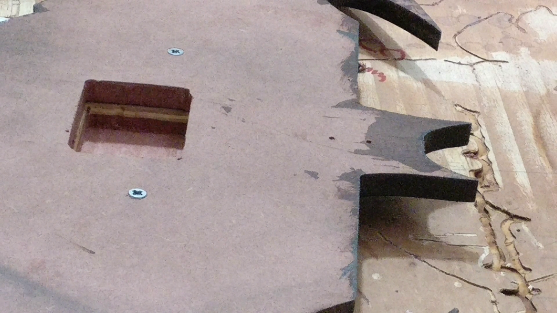 Picture of Machining at the Back for Clock Movement and Hardware Attachment for Hanging.