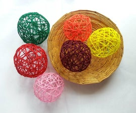 DIY Decorative Yarn Balls