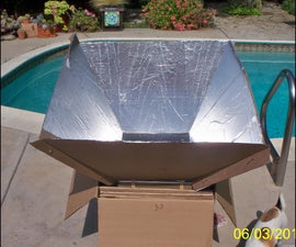Solar Cooking With A Cardboard Oven 1.0!