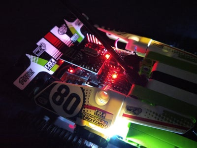 Lego Receiver - Wires, LEDs & PCB