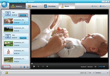 Import Your Video and Photo