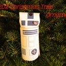 R2D2 Christmas Tree Ornament from a Toilet Paper Tube