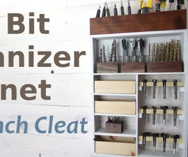 Drill Bit Cabinet w/ French Cleat