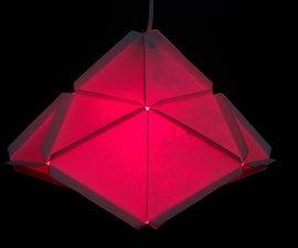 Modular Geometric Paper Lamps, 5 designs