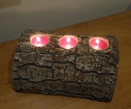 Handmade Candlestick Piece of Wood