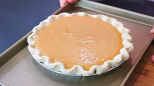 Pour Filling Into Crust