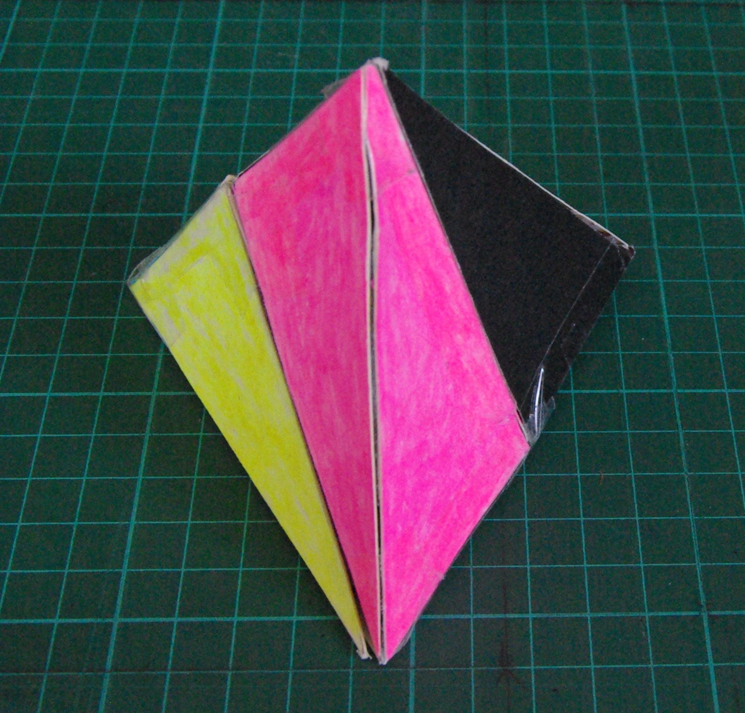 Picture of Construct a Regular Tetrahedron From Two Pairs of Congruent Non-regular Tetrahedra Which Are Mirror Images of Each Other