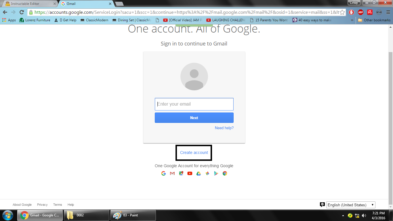"""Picture of If You See the """"Create Account"""" on the Box, Click It"""
