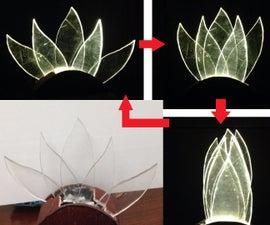Moving lamp: Blooming lotus