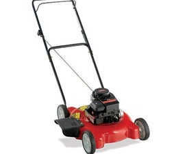 convert a lawn mower engine to steam or air