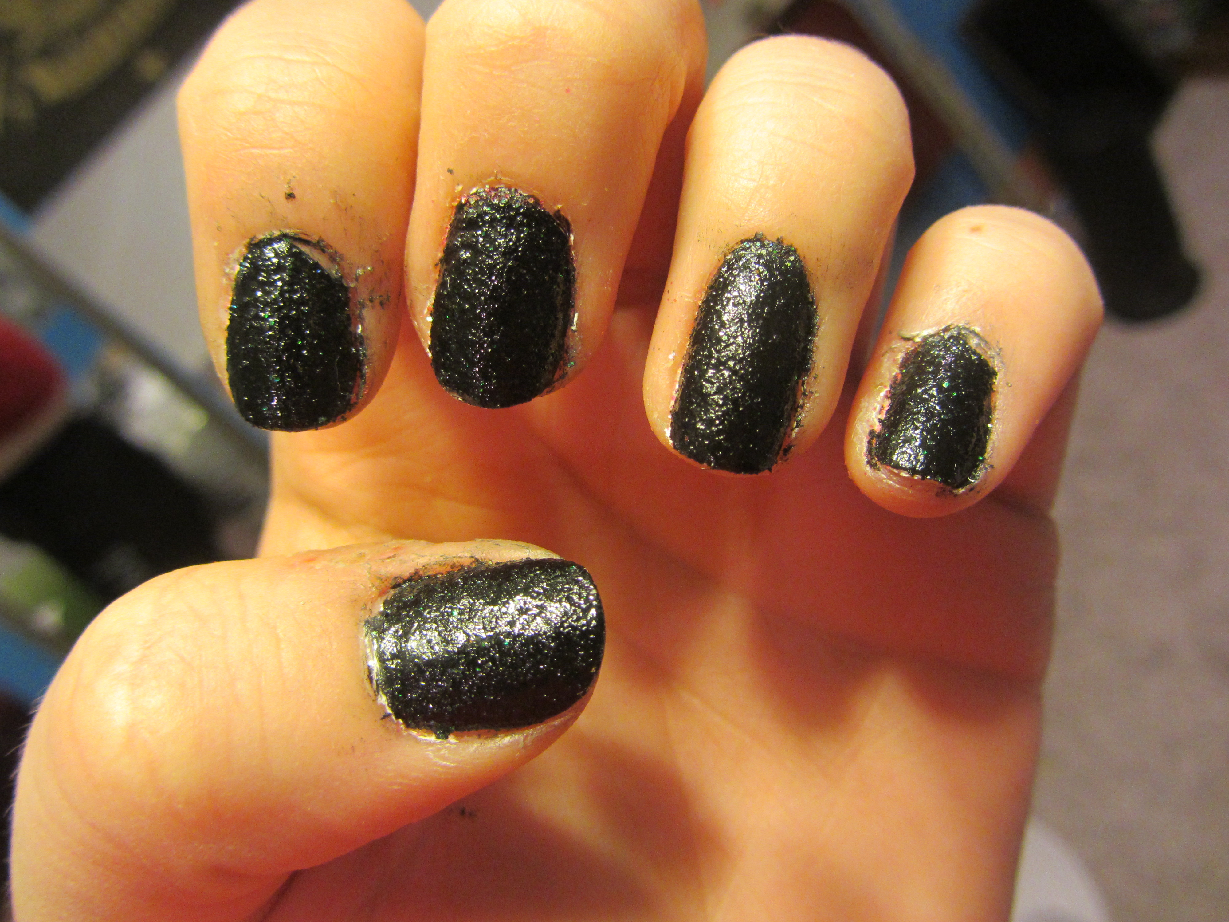 Picture of Liquid Sand Textured Nail Art