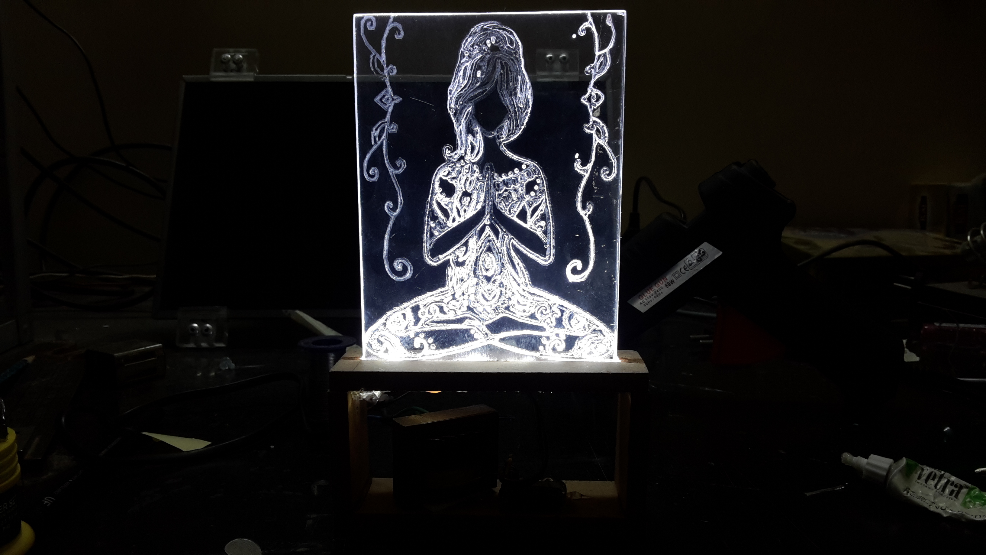 Picture of Yoga Girl - Led Lamp