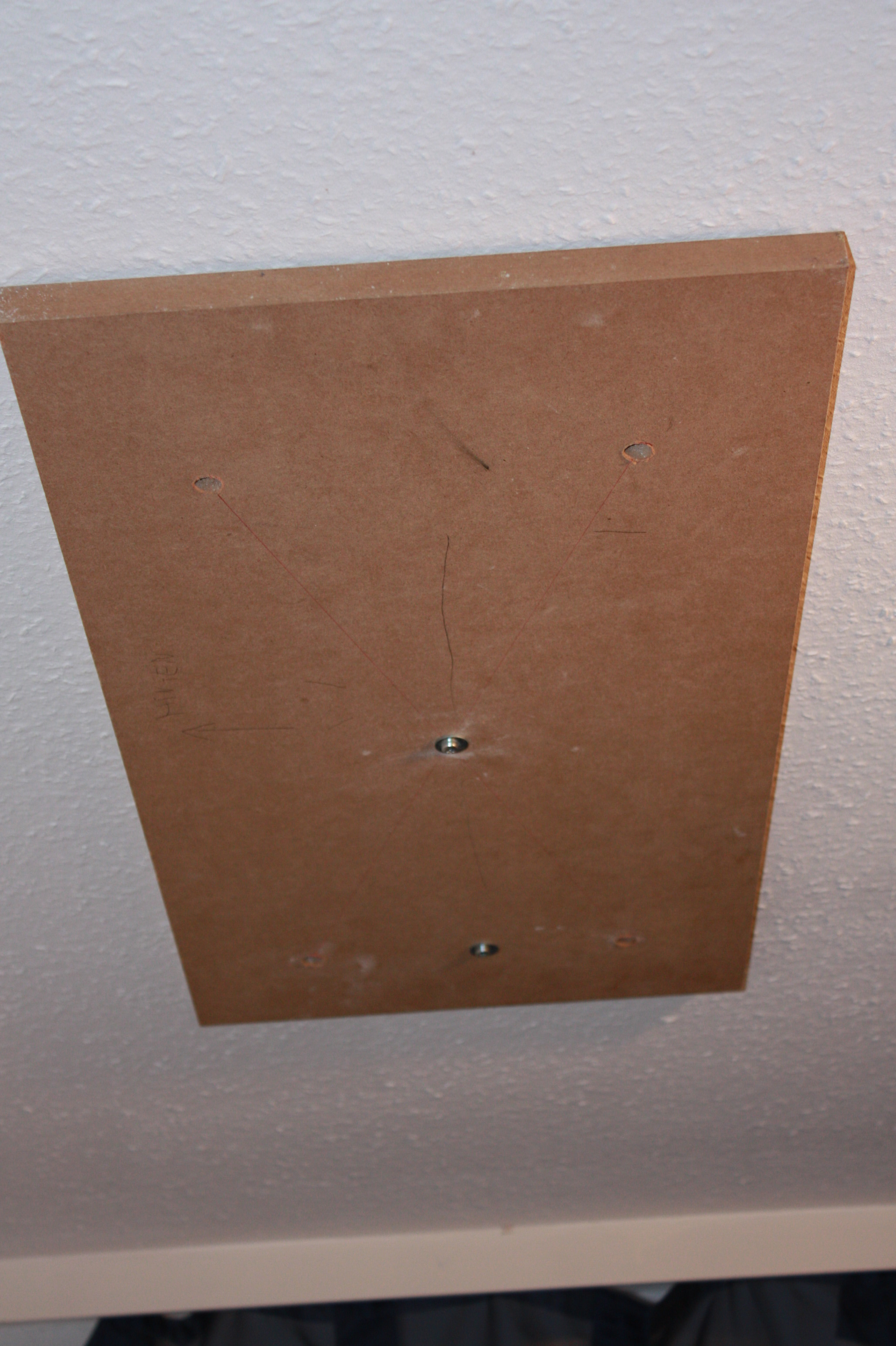 Picture of Prepare the Template & Measure the Distance Between the Drywall and the Concrete Ceiling