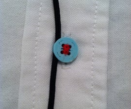 3D Printed Earbud Cord Button Clip