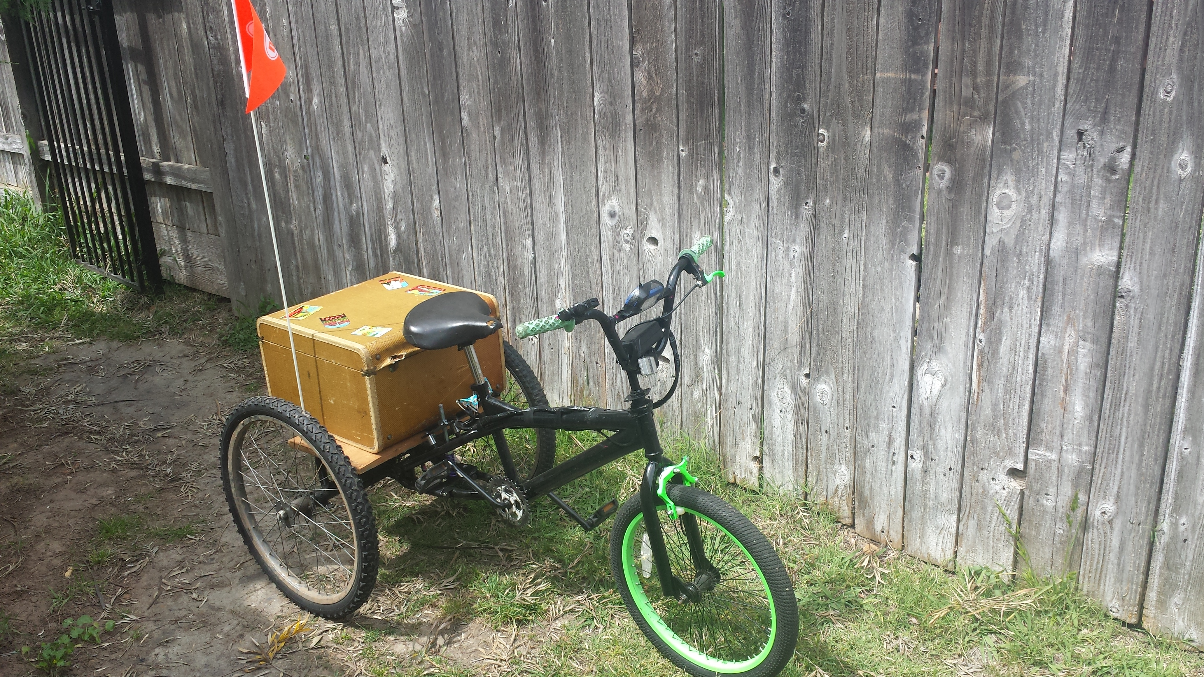Picture of Electric Trike With Bmx Front End.