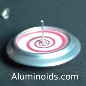 Aluminoid Spinning Top From Soda Can Bottom