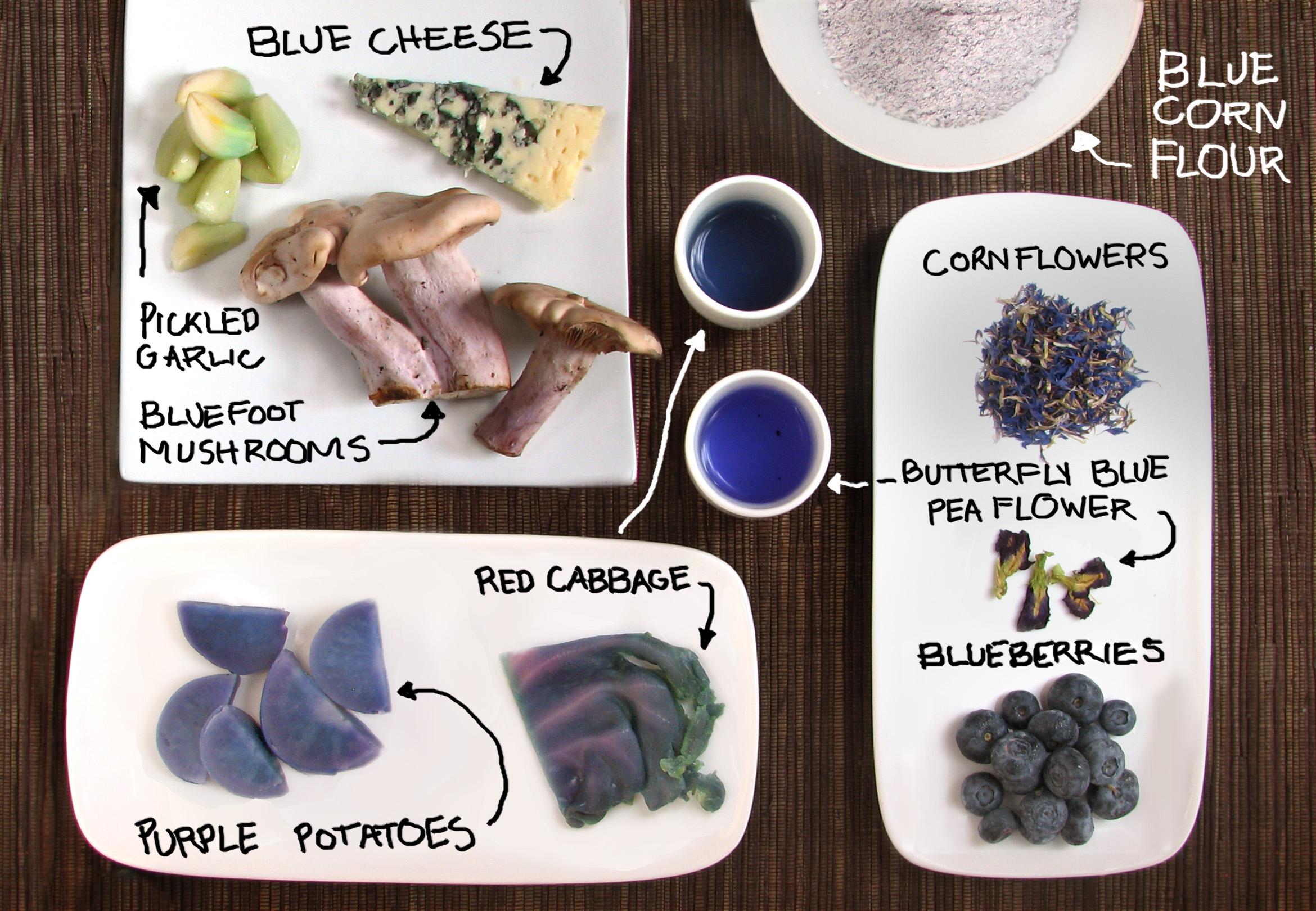 Picture of Blue Foods! Colorful Cooking Without Artificial Dyes