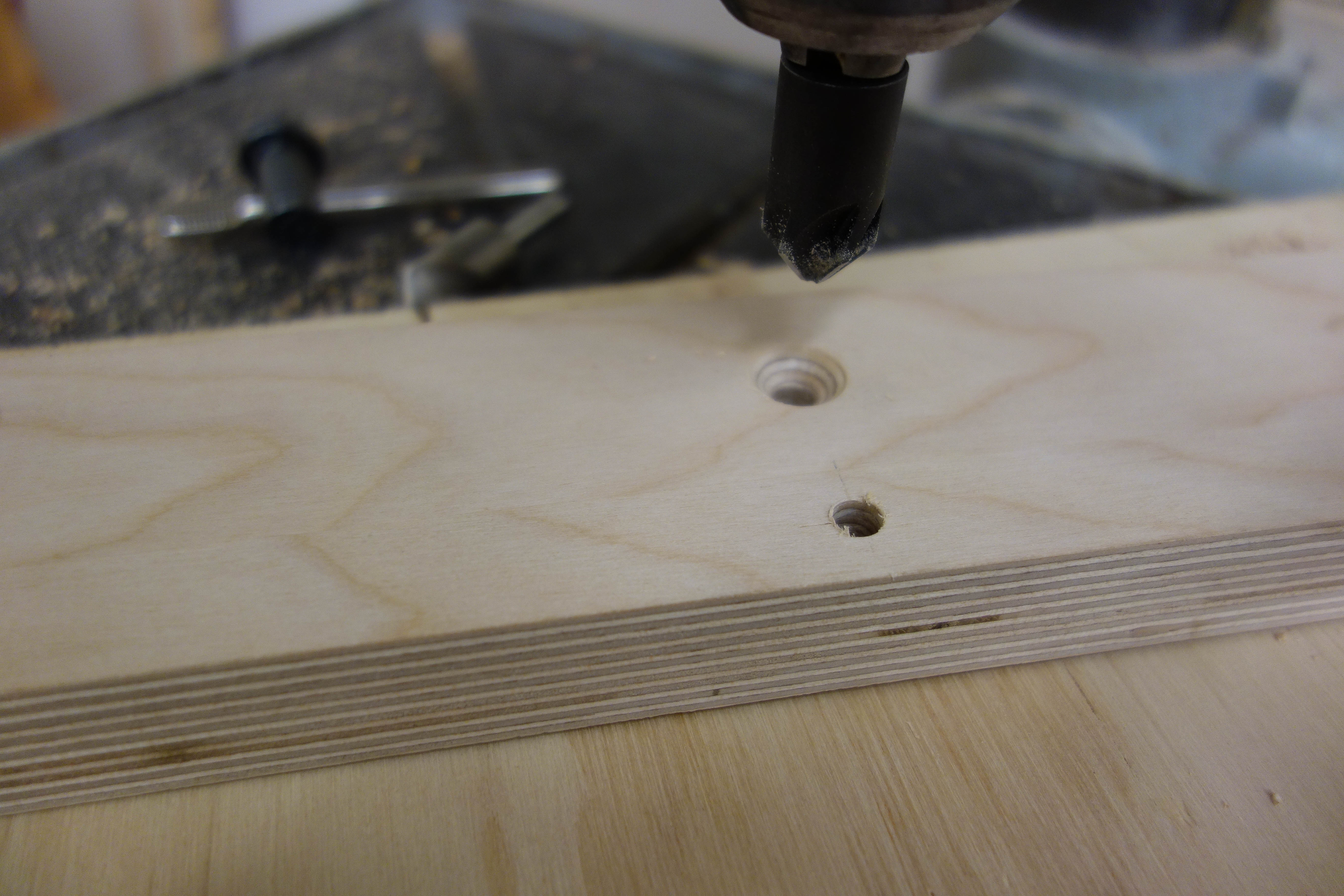 Picture of Drilling Holes in the Foot Runners