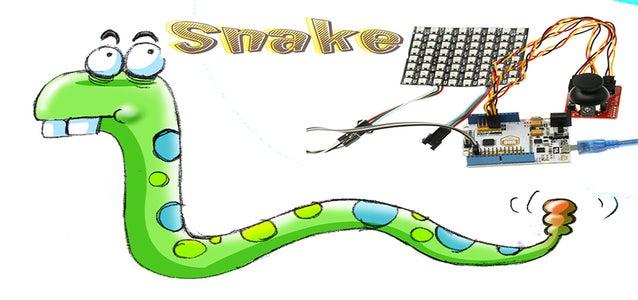 NeoPixels Matrix:Snake Game