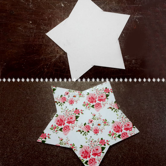 Picture of Let's Cut the Star-Shaped Cardboard & Printed Paper!