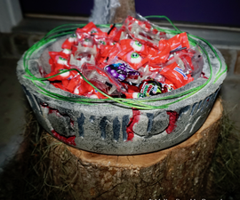 Concrete Halloween Candy Bowl