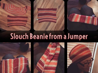Slouch Beanie From a Jumper