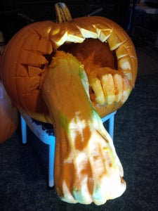 """""""Get Me Out of Here!"""" Pumpkin Carving"""