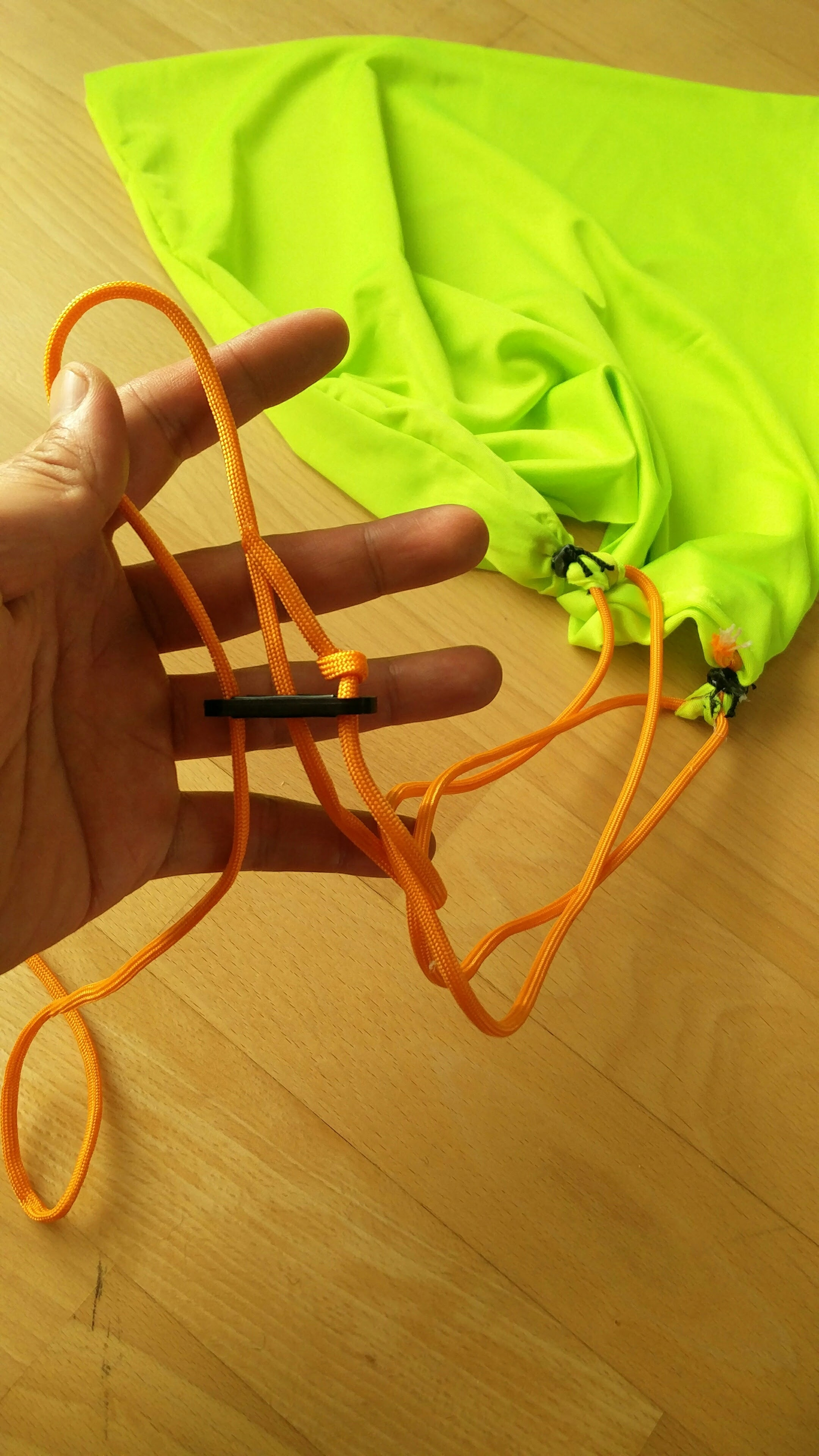 Picture of Attaching Adjustable Cords and Packing