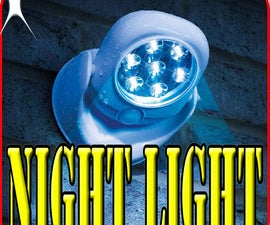 How to Make Simple Automatic Night Light Circuit Using LDR