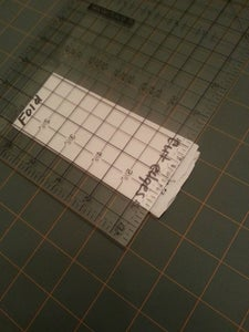 Cutting the Tulle Yardage Into Strips....EASY