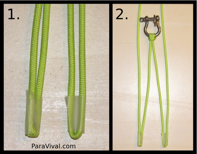 Step 4: Temporary Step: Taping Ends to Insure Accurate Measurement and Stable Weaving