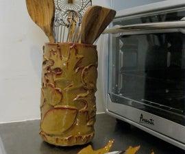 Ceramic Spoon Rest & Utensil Holder