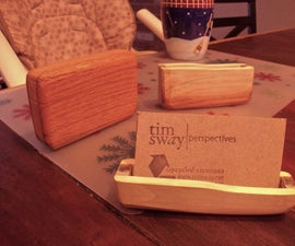 pallet wood business card holders