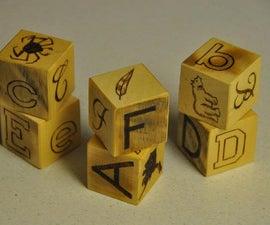 Custom wooden letter blocks for children
