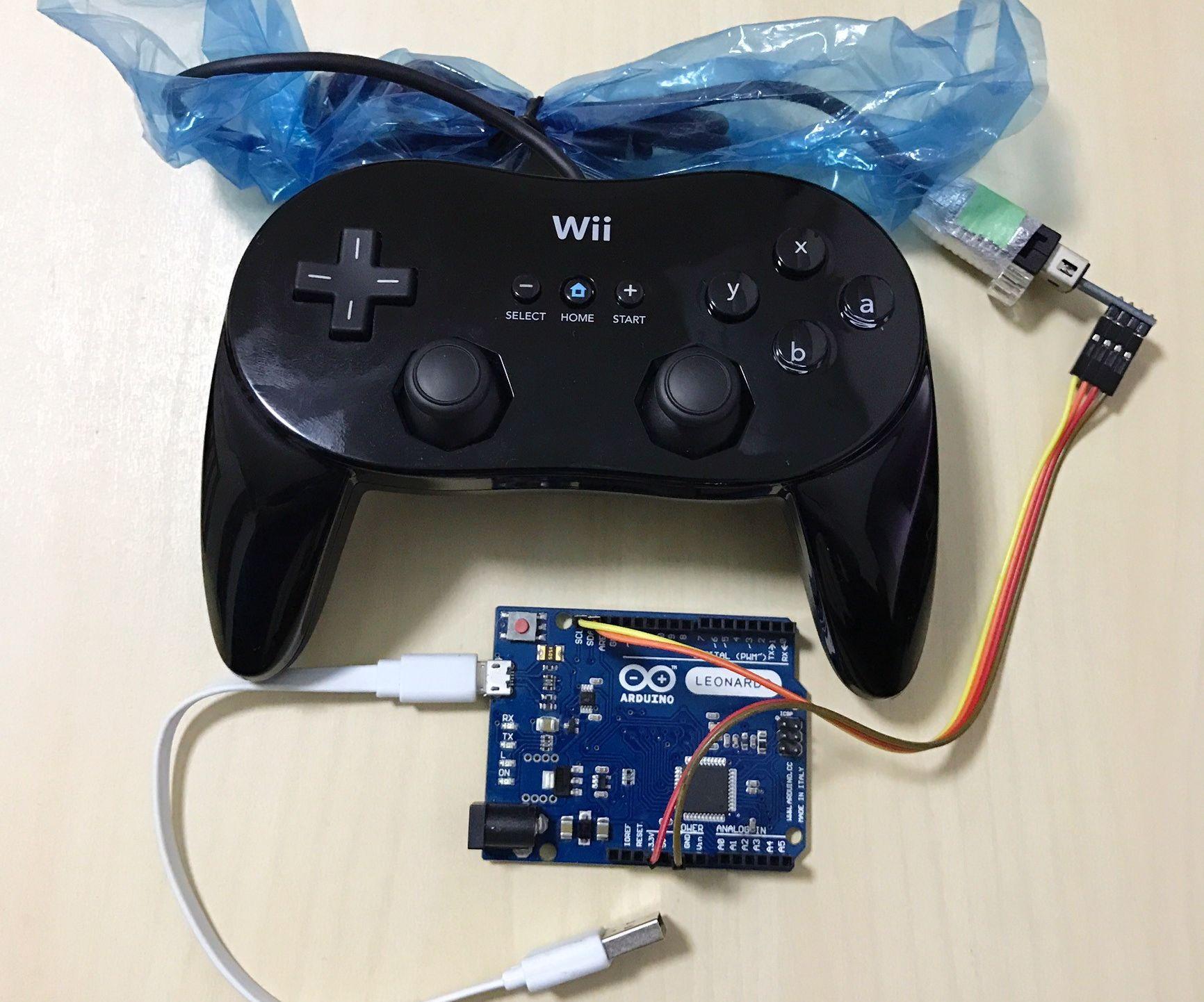 USB Gamepad Using Wii Classic Controller and Arduino Leonardo