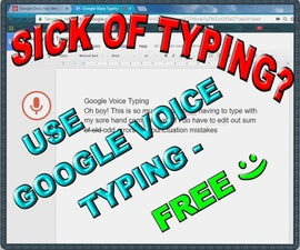 Sick of Typing? Use Google Voice - Free!