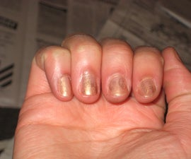 How to put Newsprint on Nails