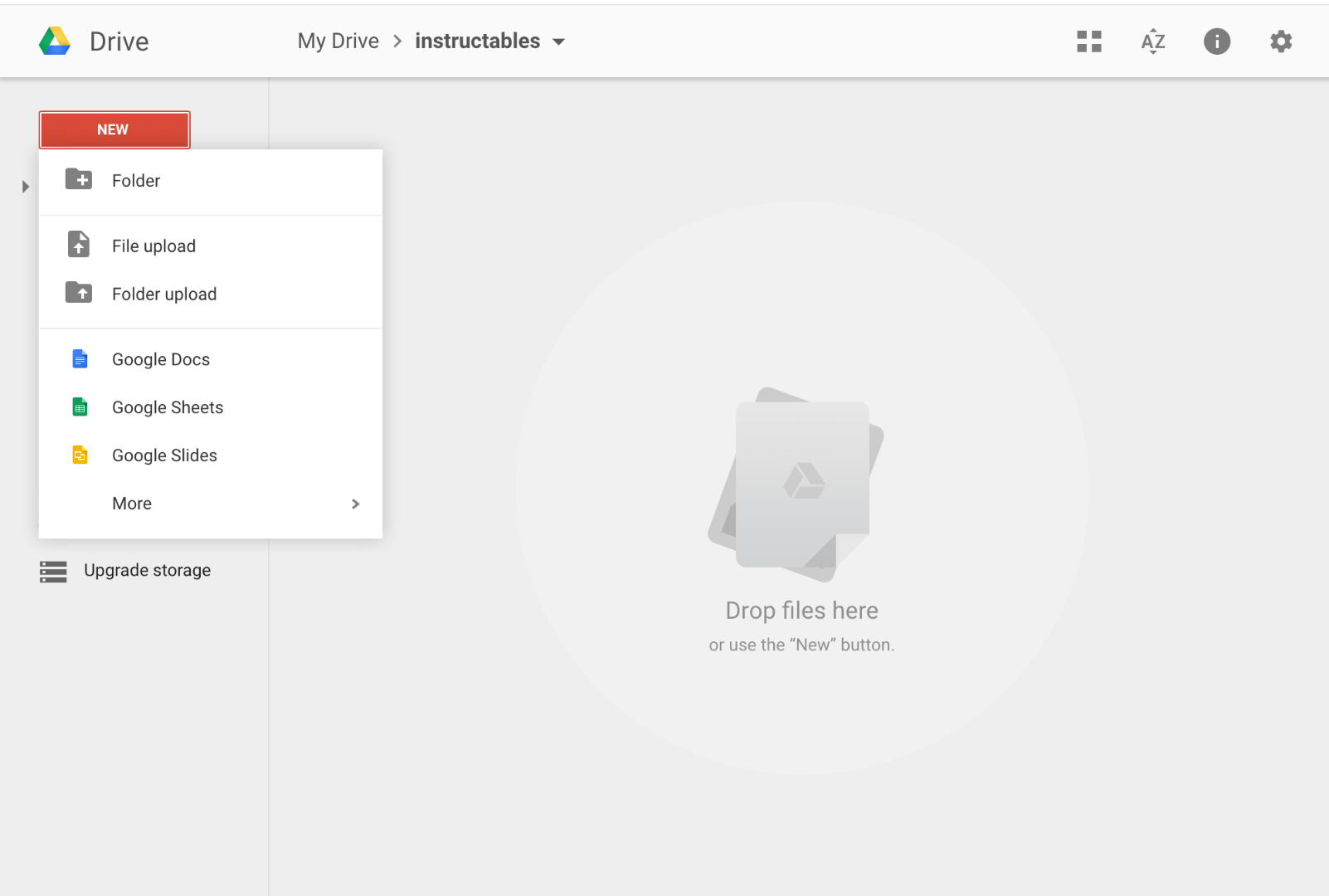 Picture of Create a Spreadsheet in Google Drive