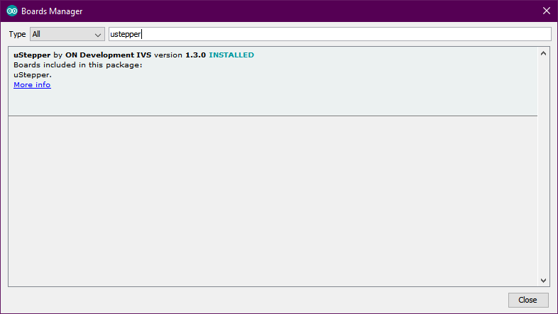 Picture of Uploading the Required Code to the Ustepper