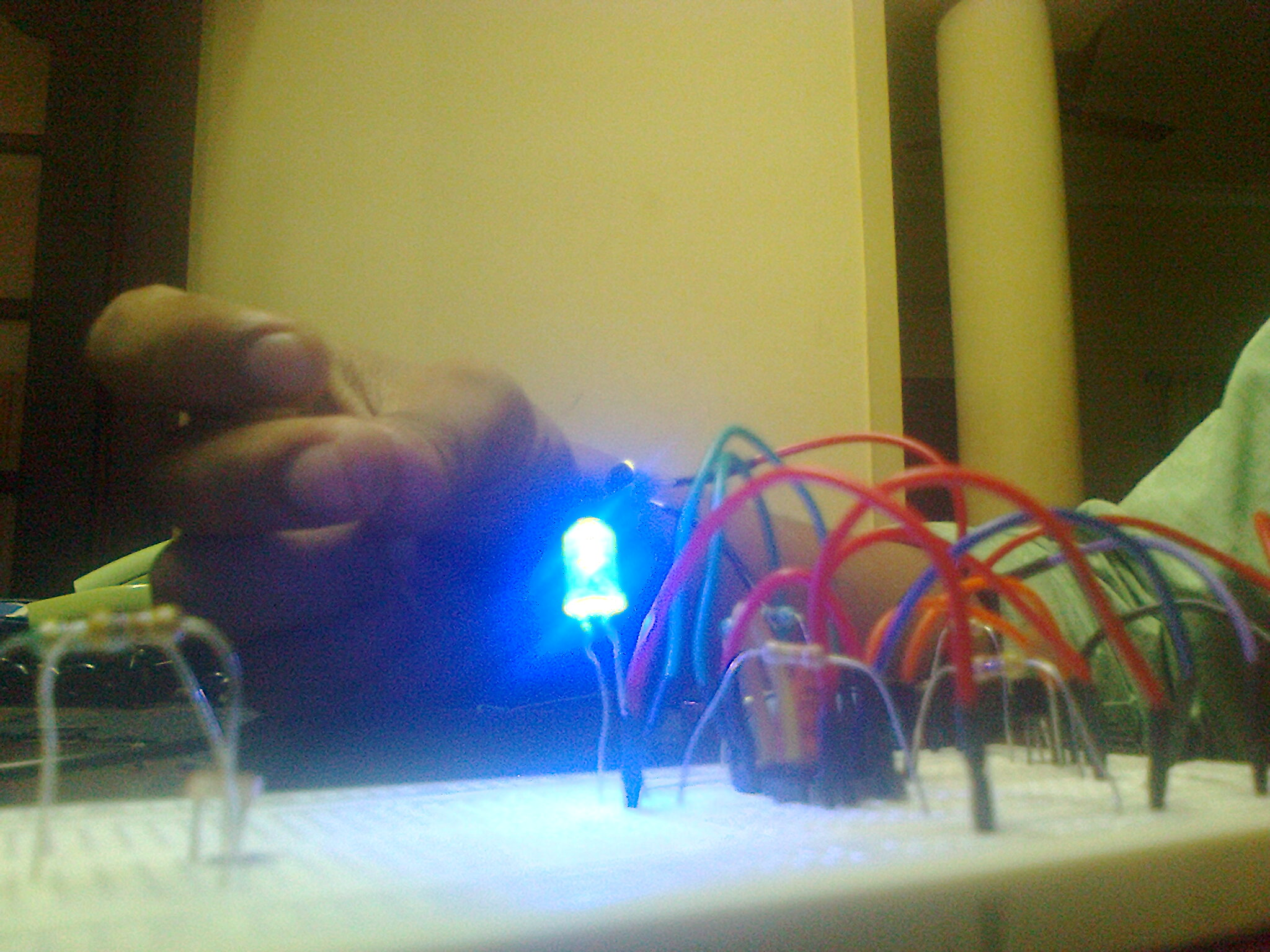 Picture of Making the Sound Activated Light Circuit