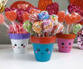 DIY Cute Flower Pots | Valentine's Gift Idea