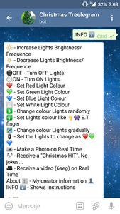 Treelegram: a Christmas Tree Telegram Bot That Lets You Hack Its Lights at Your Own