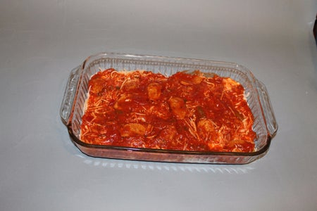 Add Your 2nd Layer of Pasta Sauce